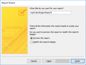 How To Create A Report in Access