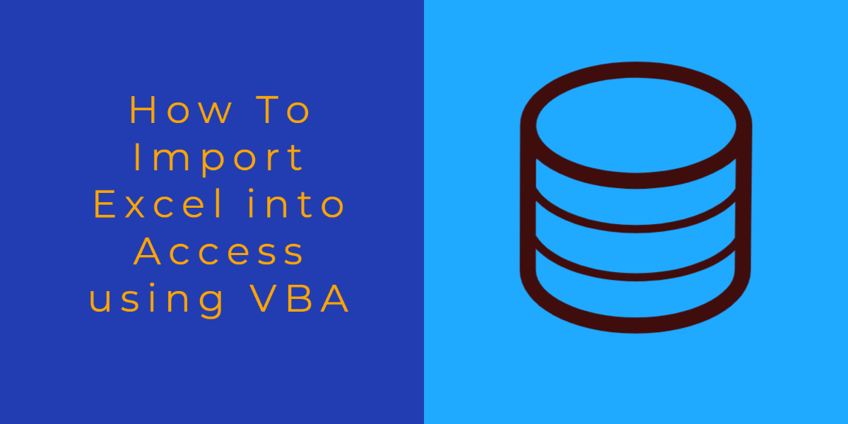 how to import excel into access using vba