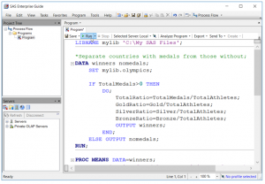 sas programmer working in sas enterprise guide