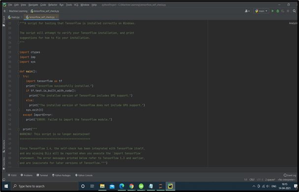 IDE pycharm screenshot, possibly the best python ide for data science if you are a beginner.