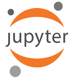 jupyter logo, the best python ide for data science may be jupyter notebook